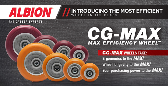 ALBION CASTERS LAUNCHES NEW CG-MAX EFFICIENCY WHEEL